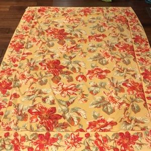 April Cornell Tablecloth 81x56 Yellow red EUC
